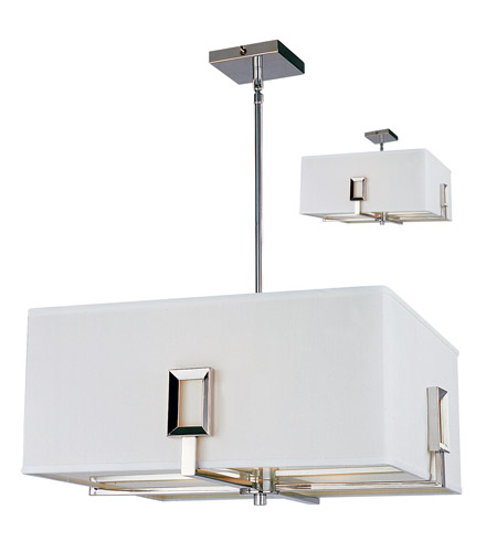 Z-Lite Quadrate 3 Light Pendant in Polished Stainless Steel 1202-20C photo
