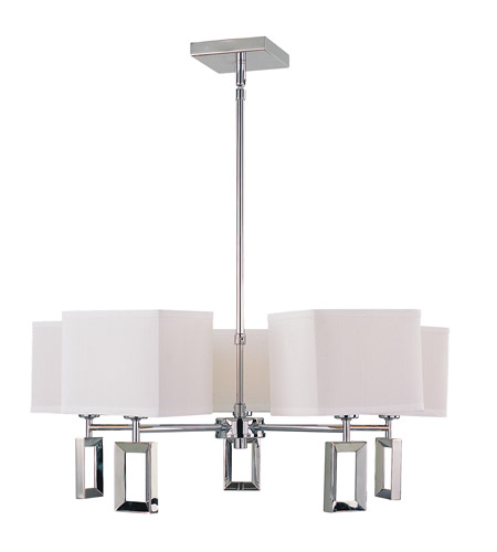 Z-Lite Quadrate 5 Light Chandelier in Polished Stainless Steel 1202-5 photo