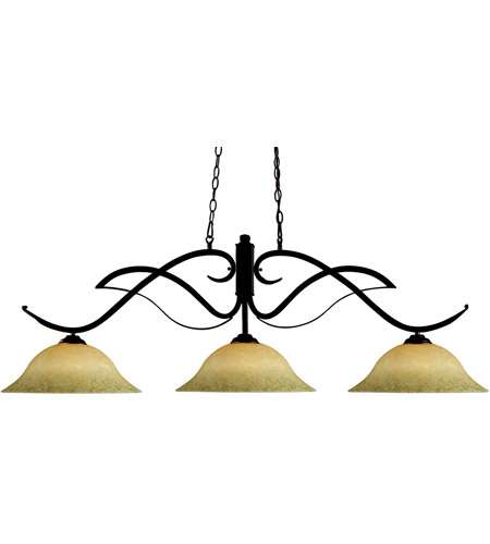 Z-Lite 126BRZ-GM16 Phoenix 3 Light 54 inch Bronze Billiard Ceiling Light in 16, Golden Mottle photo