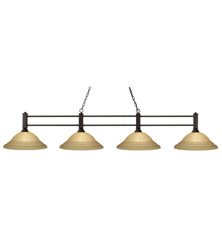 Z-Lite Challenger 4 Light Billiard in Bronze 127-4BRZ-GSW16 photo