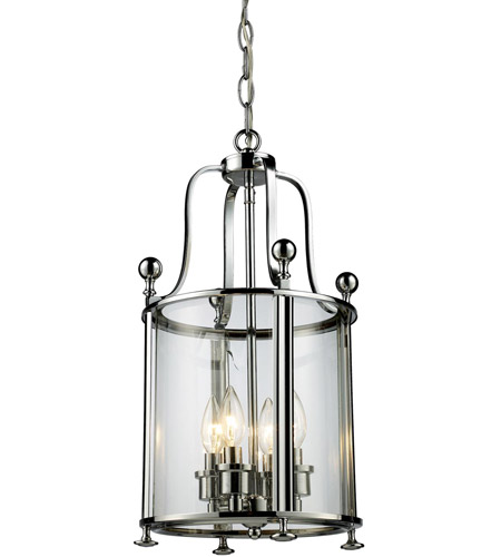 Z-Lite 134-4 Wyndham 4 Light 12 inch Chrome Pendant Ceiling Light photo