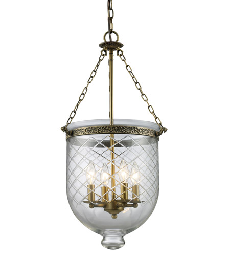 Z-Lite Tudor 4 Light Pendant in Antique Brass 136-28 photo