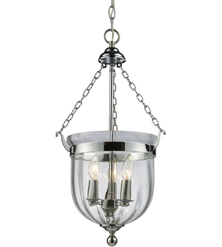 Z-Lite 137-25 Warwick 3 Light 12 inch Chrome Pendant Ceiling Light in 12.25 photo