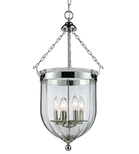 Z-Lite 137-28 Warwick 4 Light 14 inch Chrome Pendant Ceiling Light in 13.75 photo