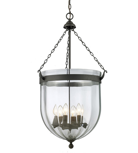 Z-Lite Warwick 6 Light Pendant in Bronze 140-34 photo