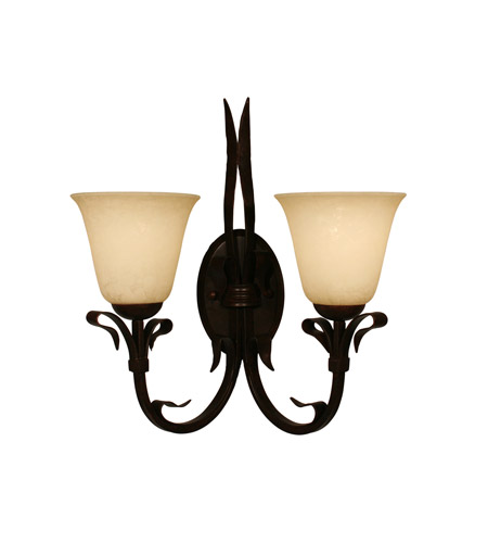 Z-Lite Fountaindale 2 Light Wall Sconce in Matte Coffee 14072W photo