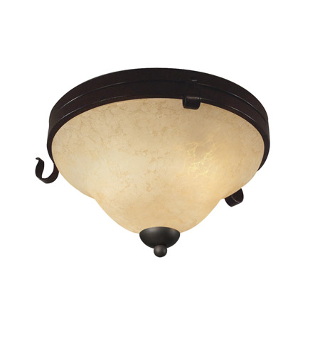 Z-Lite Fountaindale 3 Light Flush Mount in Matte Coffee 14073F photo