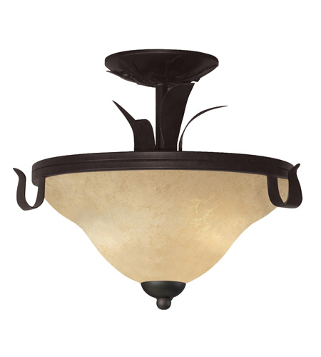 Z-Lite Fountaindale 3 Light Semi-Flush Mount in Matte Coffee 14073SF photo