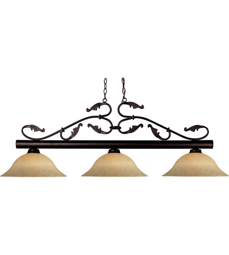 Z-Lite Bourbon 3 Light Billiard in Bronze 140BRZ-GM16 photo
