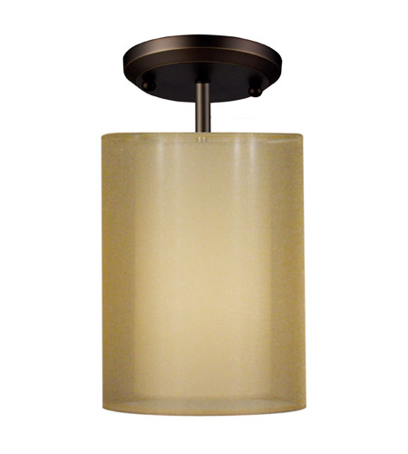 Z-Lite Nikko 1 Light Semi-Flush Mount in Olde Bronze/Gold 144-6GOB-SF photo