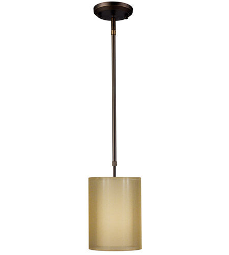 Z-Lite Nikko 1 Light Mini Pendant in Olde Bronze/Gold 144-6GOB photo