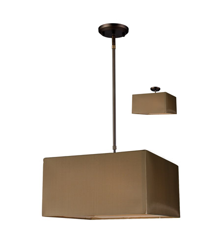 Z-Lite Nikko 3 Light Pendant in Olde Bronze/Taupe 145-15T photo