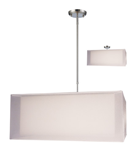Z-Lite 145-24W-C Nikko 3 Light 24 inch Brushed Nickel Pendant Ceiling Light photo