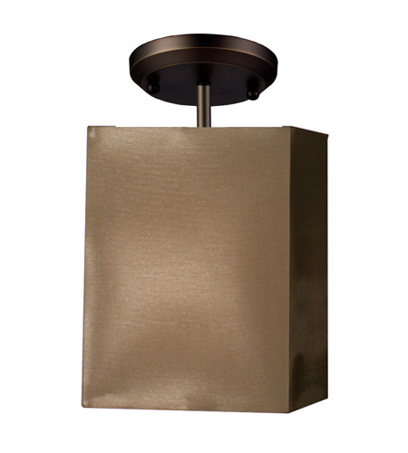 Z-Lite Nikko 1 Light Semi-Flush Mount in Olde Bronze/Taupe 145-6T-SF photo