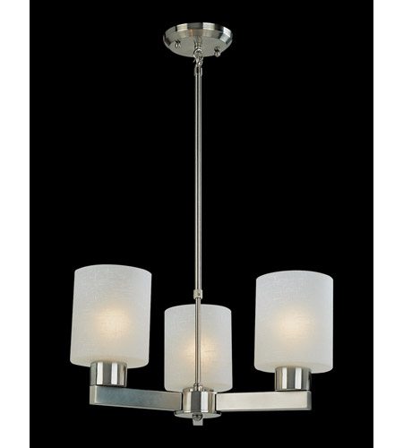 Z-Lite Cobalt 3 Light Chandelier in Brushed Nickel 152-3 photo