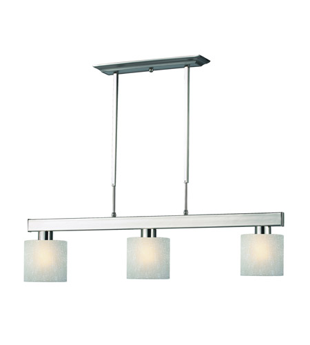 Z-Lite 152BN-WL5D Cobalt 3 Light 42 inch Brushed Nickel Billiard Ceiling Light in White Linen Glass photo