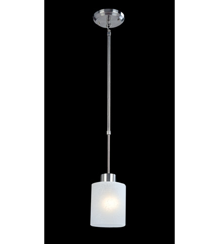 Z-Lite Cobalt 1 Light Mini Pendant in Brushed Nickel 152MP photo