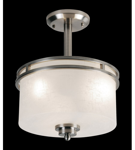 Z-Lite 152SF Cobalt 3 Light 12 inch Brushed Nickel Semi-Flush Mount Ceiling Light photo