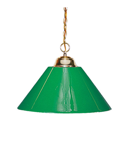 Z-Lite 155-1PB-PGR Signature 1 Light 14 inch Polished Brass Pendant Ceiling Light in Green Plastic photo