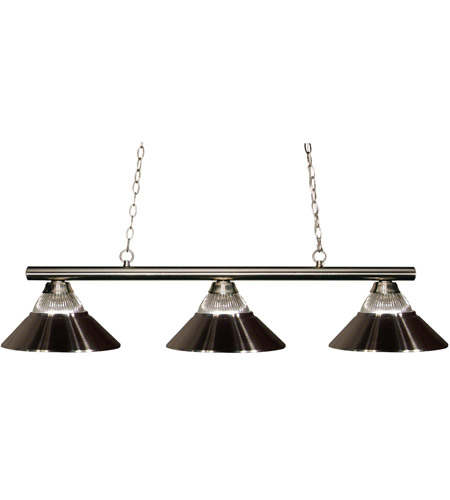 Z-Lite 155-3BN-RBN Sharp Shooter 3 Light 48 inch Brushed Nickel Billiard Ceiling Light in Both photo