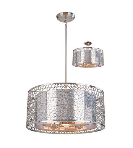 Z-Lite Saatchi 6 Light Pendant in Brushed Nickel 158-20 photo
