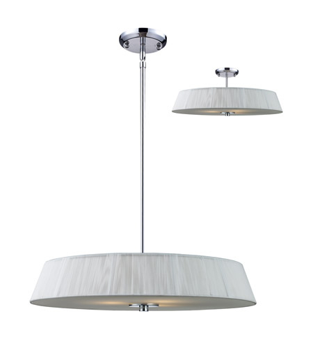 Z-Lite 162-24W-C Millennium 3 Light 24 inch Chrome Pendant Ceiling Light photo