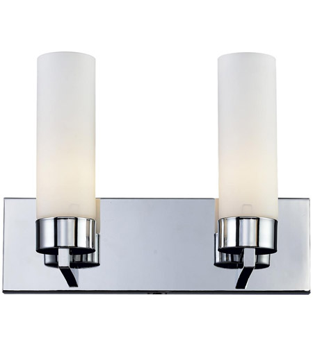 Ibis 2 Light 15 Inch Chrome Vanity Wall Light