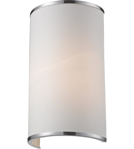 Z-Lite Cameo 1 Light Wall Sconce in White/Chrome 164-1S photo