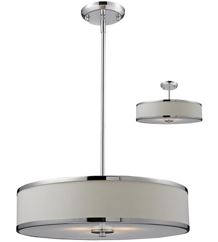 Z-Lite 164-20 Cameo 3 Light 20 inch Chrome Pendant Ceiling Light in White and Chrome  sc 1 st  Z-Lite Lighting Lights & Z-Lite 164-20 Cameo 3 Light 20 inch Chrome Pendant Ceiling Light in ...
