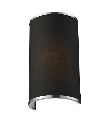 Z-Lite Cameo 1 Light Wall Sconce in Chocolate/Brushed Nickel 167-1S photo