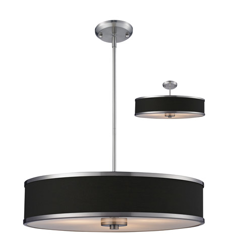 Z-Lite Cameo 3 Light Convertible Pendant in Chocolate/Brushed Nickel 167-24 photo