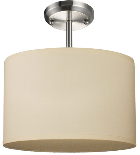 Z-Lite Albion 1 Light Semi Flush in Brushed Nickel 171-12C-SF photo