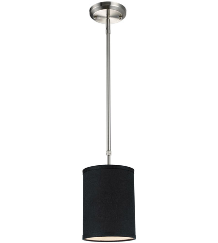 Z-Lite 171-6B Albion 1 Light 6 inch Brushed Nickel Mini Pendant Ceiling Light in Black photo