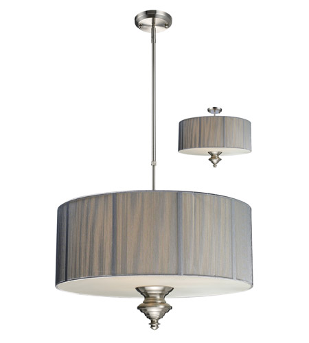 Z-Lite Manhattan 3 Light Pendant in Brushed Nickel/Silver 173-24S-C photo