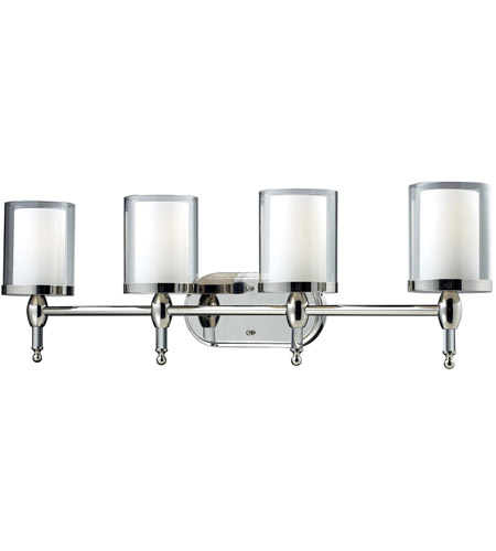 Z lite 1908 4v argenta 4 light 34 inch chrome vanity light for Z gallerie bathroom lights