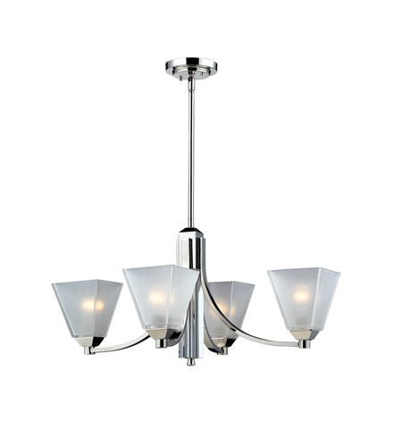 Z-Lite Luxe 4 Light Chandelier in Chrome 1909-4 photo