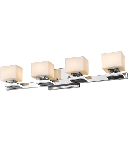 Z-Lite 1914-4V-CH-LED Cuvier LED 27 inch Chrome Vanity Wall Light in 4 photo
