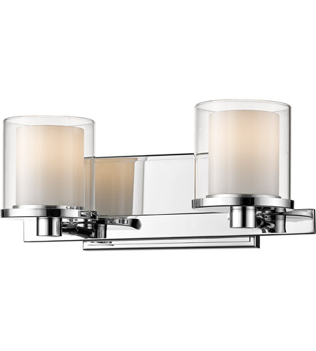 Z-Lite 1918-2V-CH-LED Schema LED 15 inch Chrome Vanity Wall Light in 2 photo