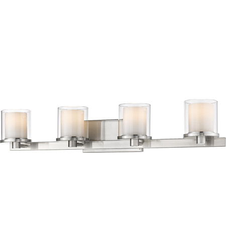 Z-Lite 1918-4V-BN-LED Schema LED 32 inch Brushed Nickel Vanity Wall Light in 4 photo thumbnail