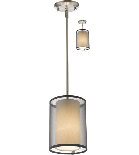 Brushed Nickel Sedona Pendants