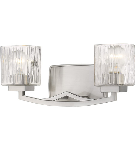 Brushed Nickel Zaid Bathroom Vanity Lights