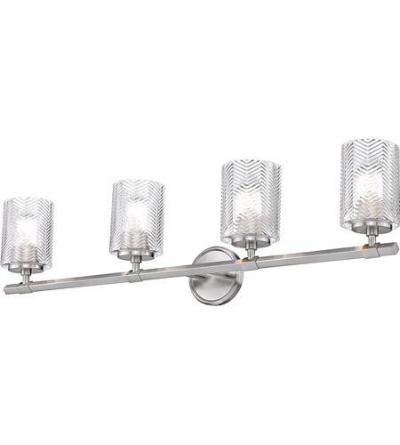 Z Lite 1934 4v Bn Dover Street 4 Light 33 Inch Brushed Nickel Vanity Wall Light