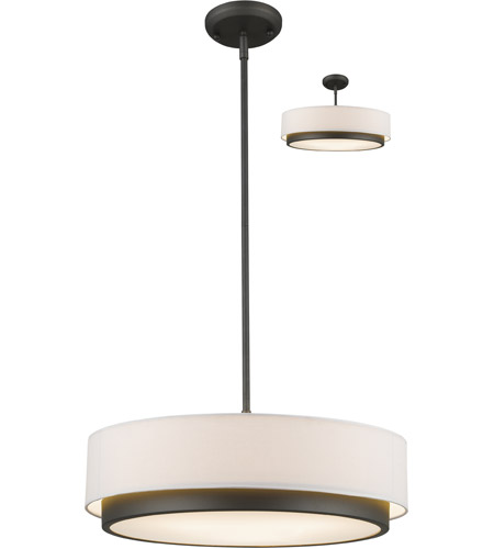 Z-Lite 196-22 Jade 3 Light 22 inch Factory Bronze Pendant Ceiling Light photo