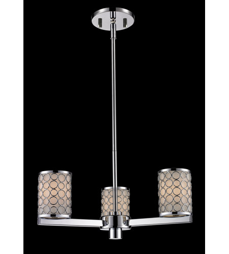 Z-Lite Synergy 3 Light Chandelier in Chrome/Matte Opal 199-3 photo