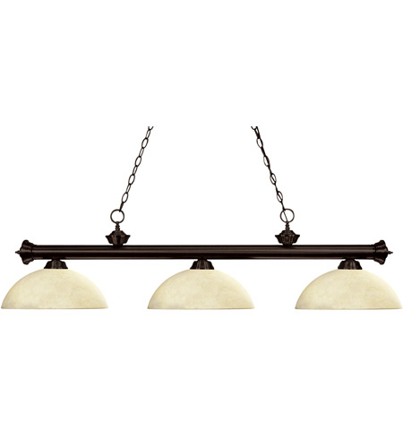 Z-Lite Riviera 3 Light Billiard in Bronze 200-3BRZ-DGM14 photo
