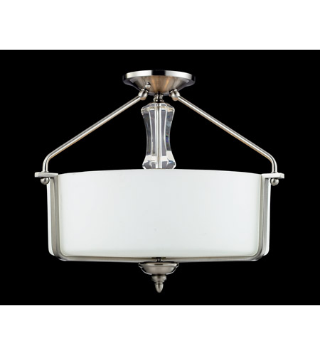 Z-Lite 2000SF Avignon 3 Light 19 inch Brushed Nickel Semi Flush Mount Ceiling Light photo