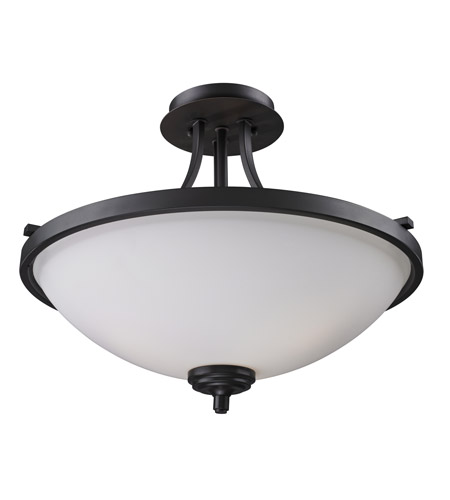 Z-Lite Chambley 3 Light Semi-Flush Mount in Oil Rubbed Bronze 2006SF photo