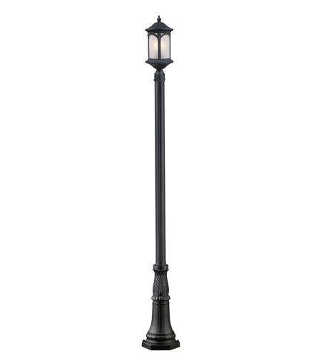 Z-Lite Hampton 1 Light Post Light in Black 2021PHM-518P-BK photo