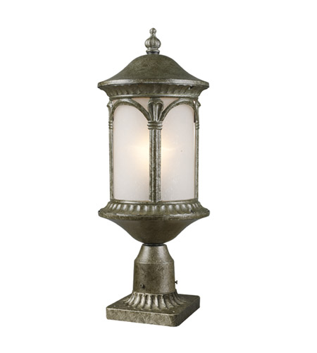 Z-Lite Hampton 1 Light Post Light in Antique Silver 2021PHM-AS-PM photo