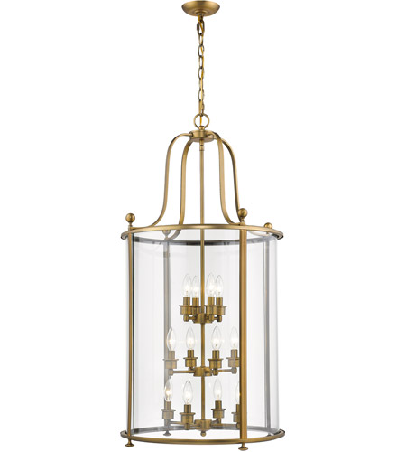Z-Lite Heirloom Brass Chandeliers
